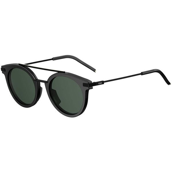 Fendi Urban Men\'s Round Sunglasses ($490) ❤ liked on Polyvore ...