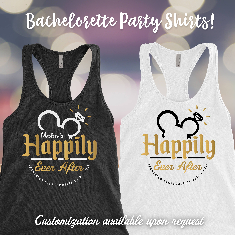Disney Bachelorette party tank top, Bridesmaid tank tops, Bridal ...