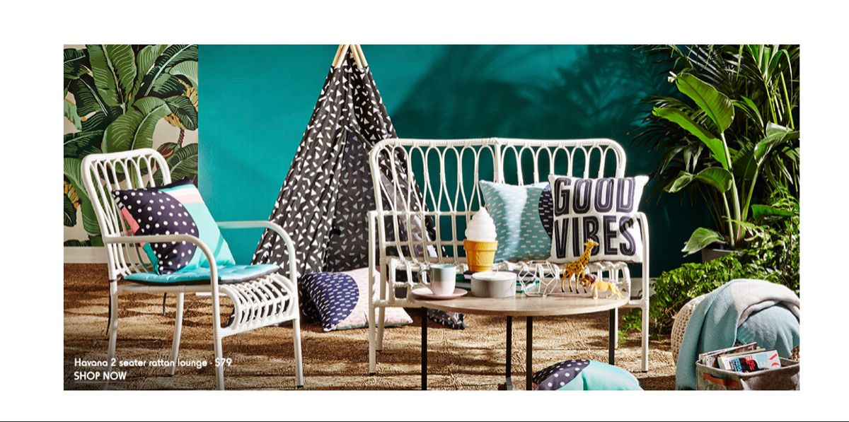 Kmart rattan lounge in 2020 Diy outdoor furniture, Kmart