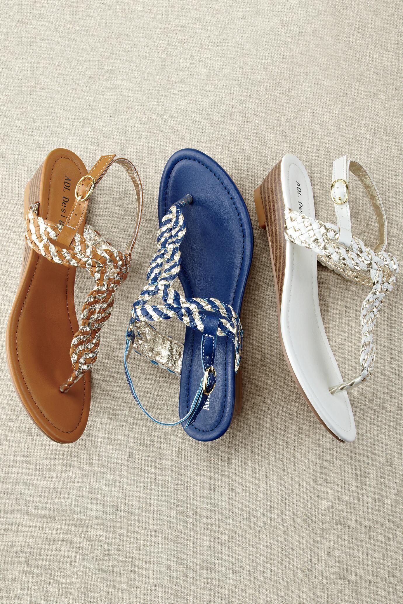 bf75d7e98 Braided Thong Wedge Sandal by Boston Design Studio™  Classic Women s  Clothing from  ChadwicksofBoston  34.99