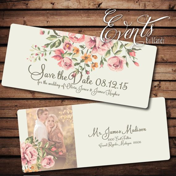 Wedding Save the Date Sample vintage floral