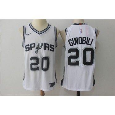 super popular 339ab 5df93 NBA Spurs 20 Manu Ginobili White Nike Men Jersey | items for ...