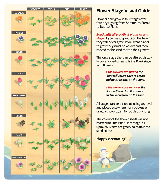 Flower Stage Visual Guide On Sand Decorations Ideas For Your Beaches Animalcrossing In 2020 Animal Crossing Redd New Animal Crossing Animal Crossing Game