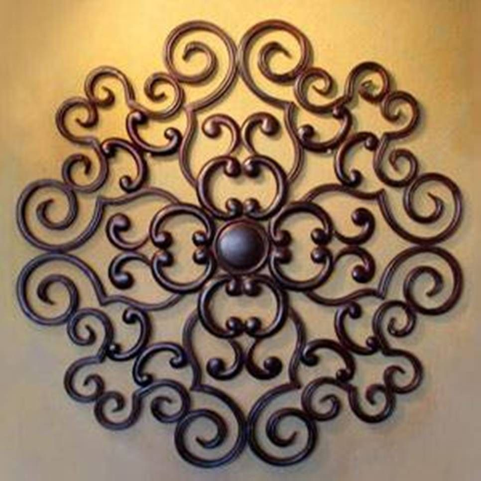 Lovely Decor , Elegant Wrought Iron Wall Decor : Bronze Wrought Iron Wall