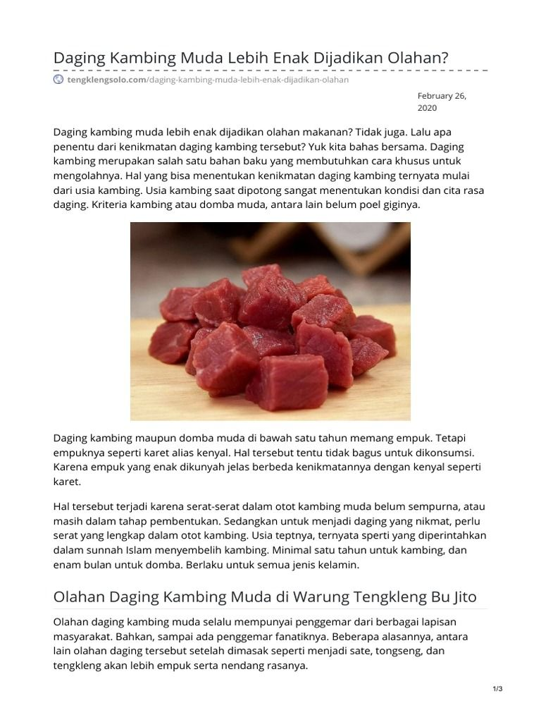 Pin On Daging Kambing Muda
