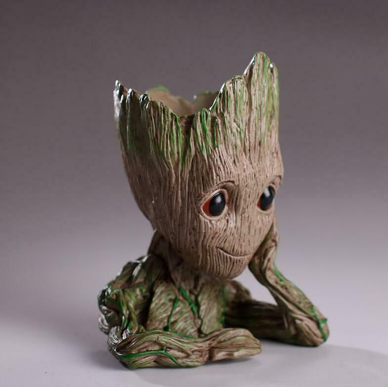 Guardians of The Galaxy Baby Groot Tree Man Figure Flowerpot Pen Pot Xmas