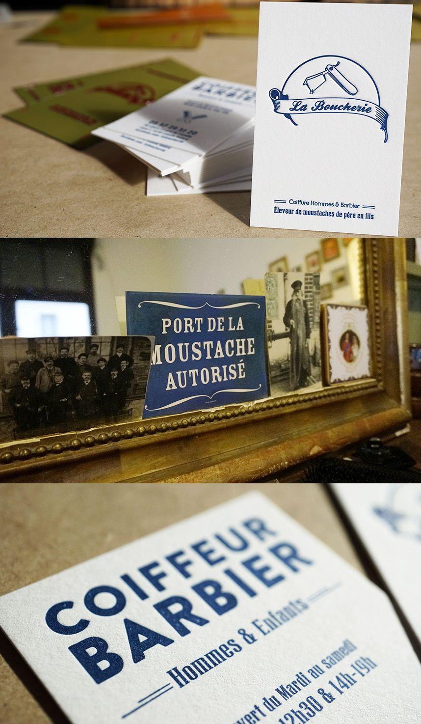 Carte De Visite Letterpress La Boucherie Bordeaux