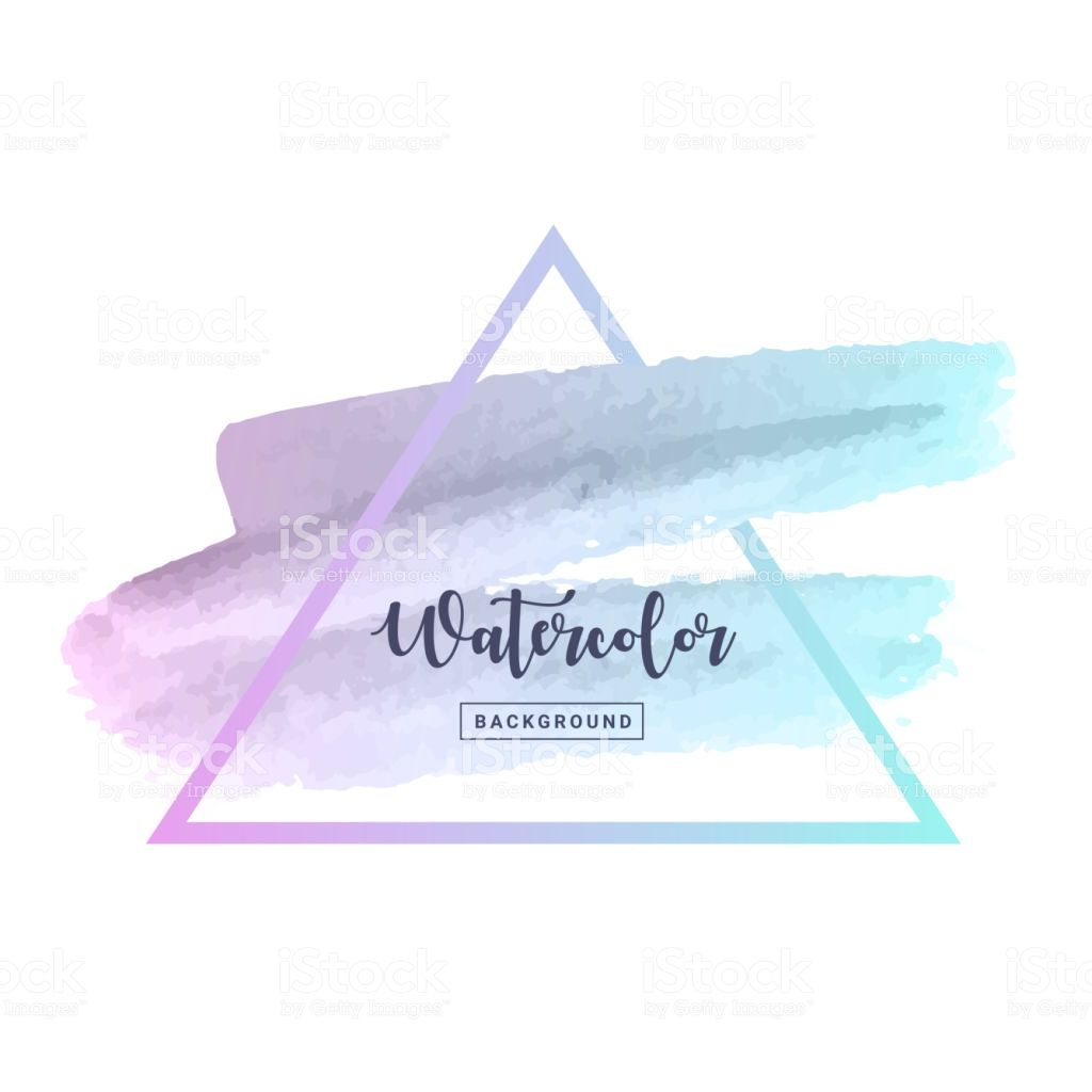 Triangle Watercolor Background Frame In Pastel Color For Electronic Circuits Diagramselectronics Projects Designshobby Decorate Banner And Printing Design Vector Illustration Royalty Free