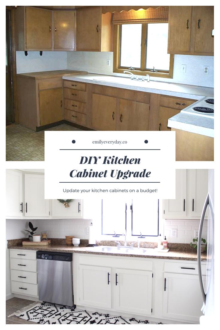 Diy Kitchen Cabinet Upgrade In 2020 Budget Kitchen Remodel Kitchen Cabinets On A Budget Diy Kitchen Cabinets