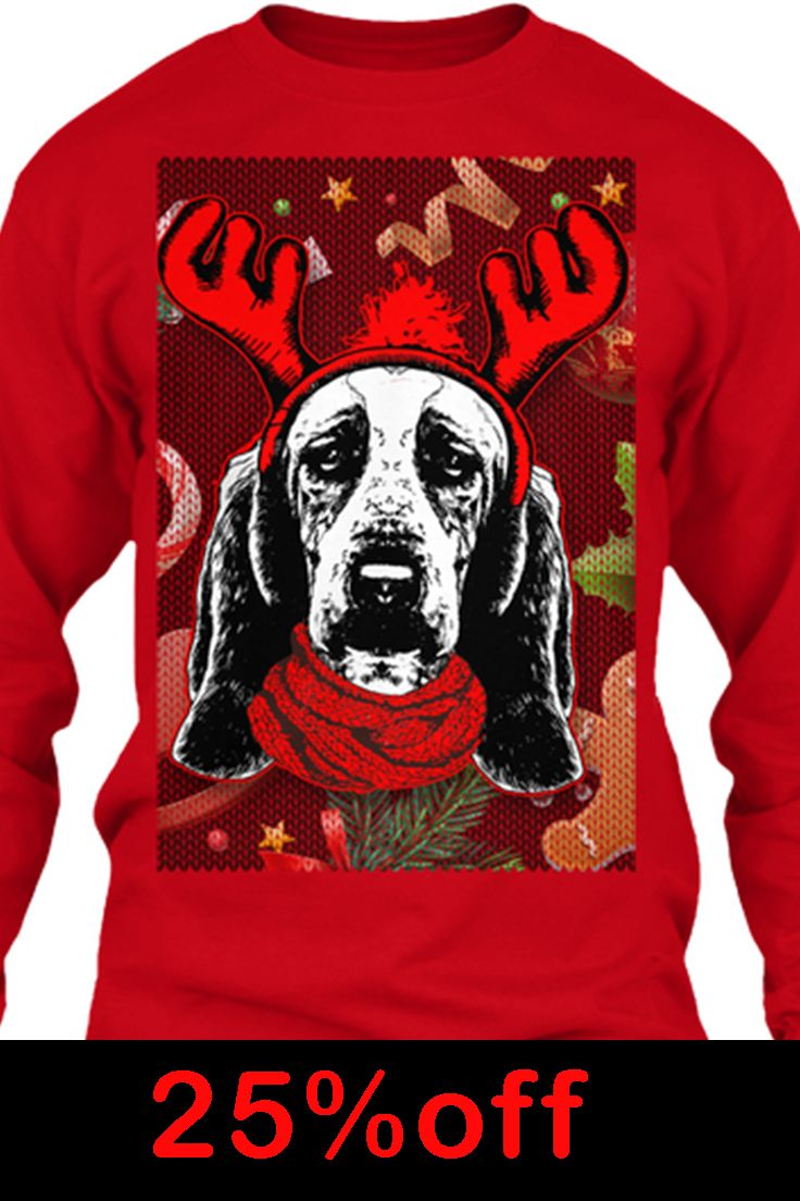 Basset Hound Ugly Christmas Sweater Christmas Pinterest