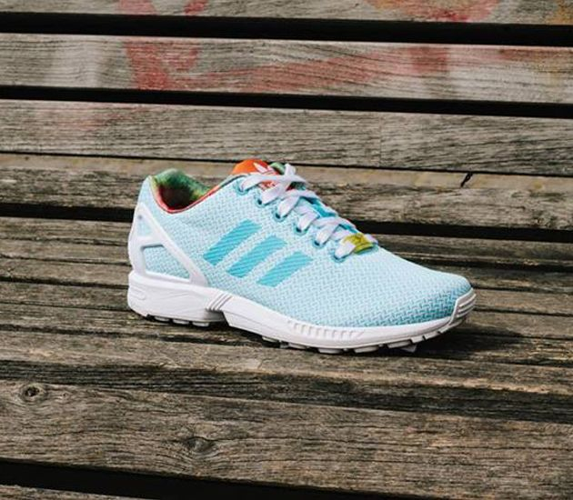 36585999061a Trendy Women s Sneakers 2018   adidas ZX Flux Weave W – Light Aqua    Running White – Black - Fashion Inspire