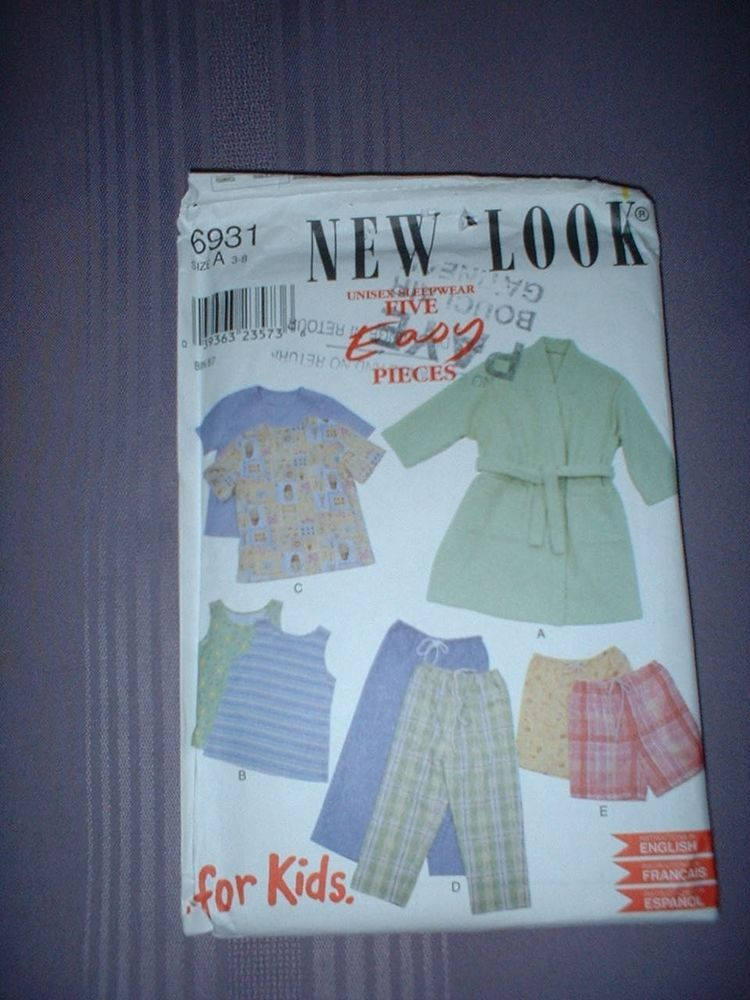 Details About New Look Pattern 6931 Girl Pants Tops Coat Shorts