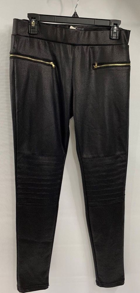 7b2ad1ae83f54 A.N.A. Womens Black Faux Leather Stretch Pants Size M NWT Zipper pockets  N05  fashion  clothing  shoes  accessories  womensclothing  jeans (ebay link )