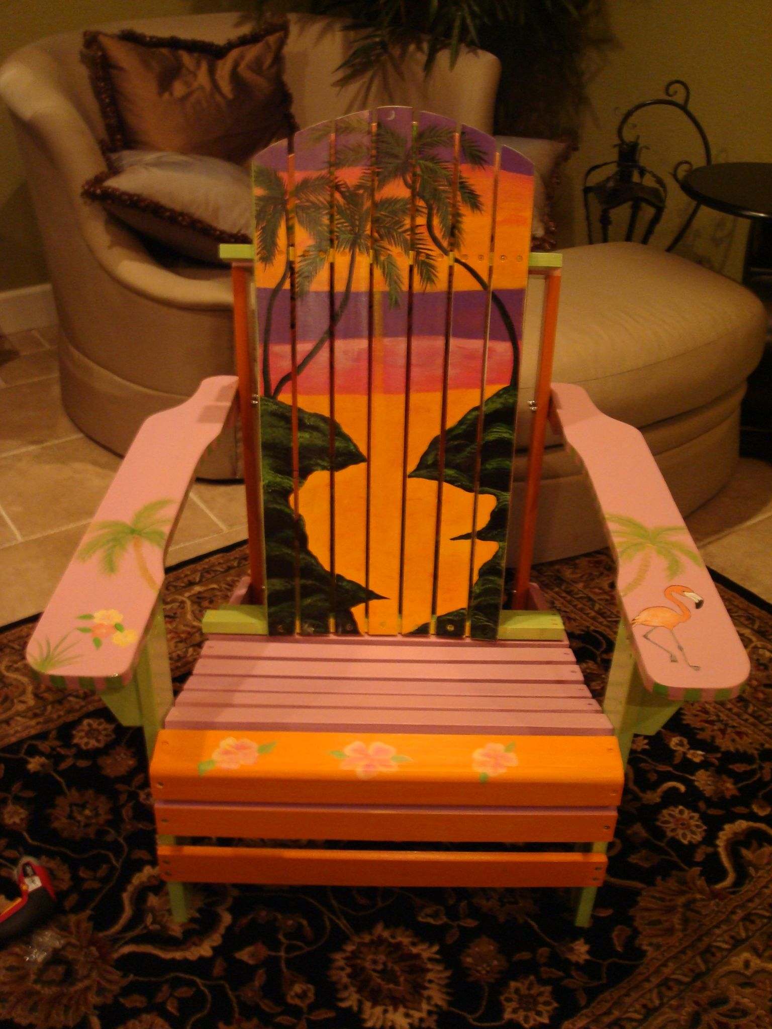 painted adirondack chair Tole Painting Pinterest