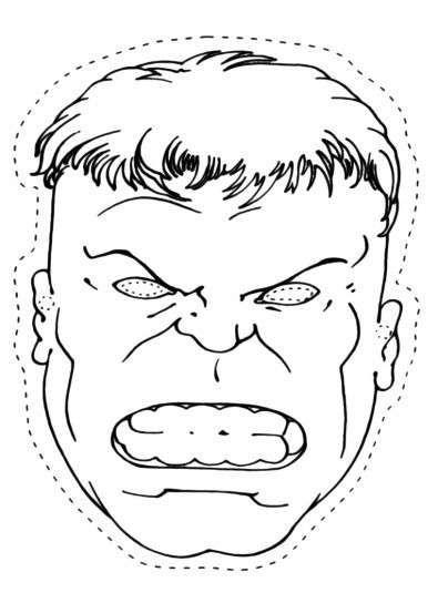 Maschera Di Hulk Pagine Da Colorare Per Bambini Hulk Festa A Tema Supereroi