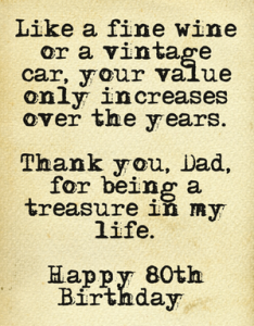 80th Birthday Wish For Dad More