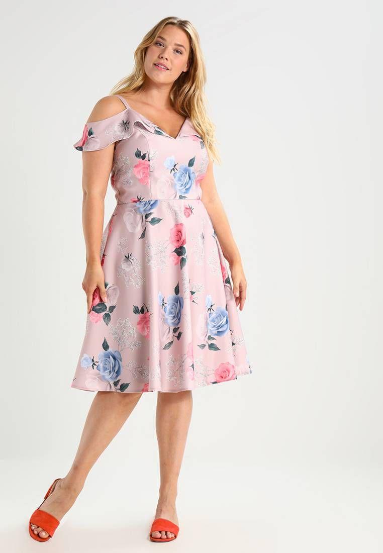 GINTA - Cocktailkleid/festliches Kleid - pink | Kleid pink, Knielang ...
