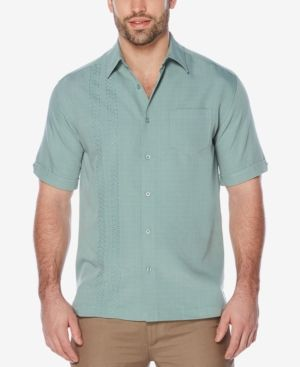 Cubavera Men's Embroidered Shirt - Green XXL