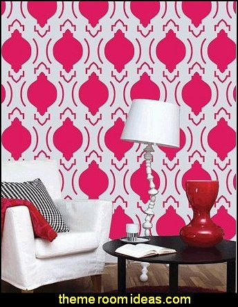 Moroccan Wall Painting Stencil. | Accent Walls | Pinterest | Theme ...