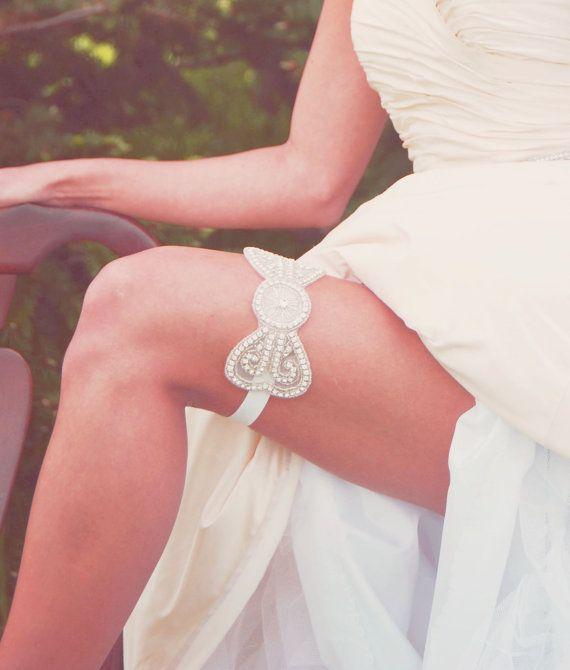Crystal Rhinestone Applique Bridal Bow by shopelizabethperry