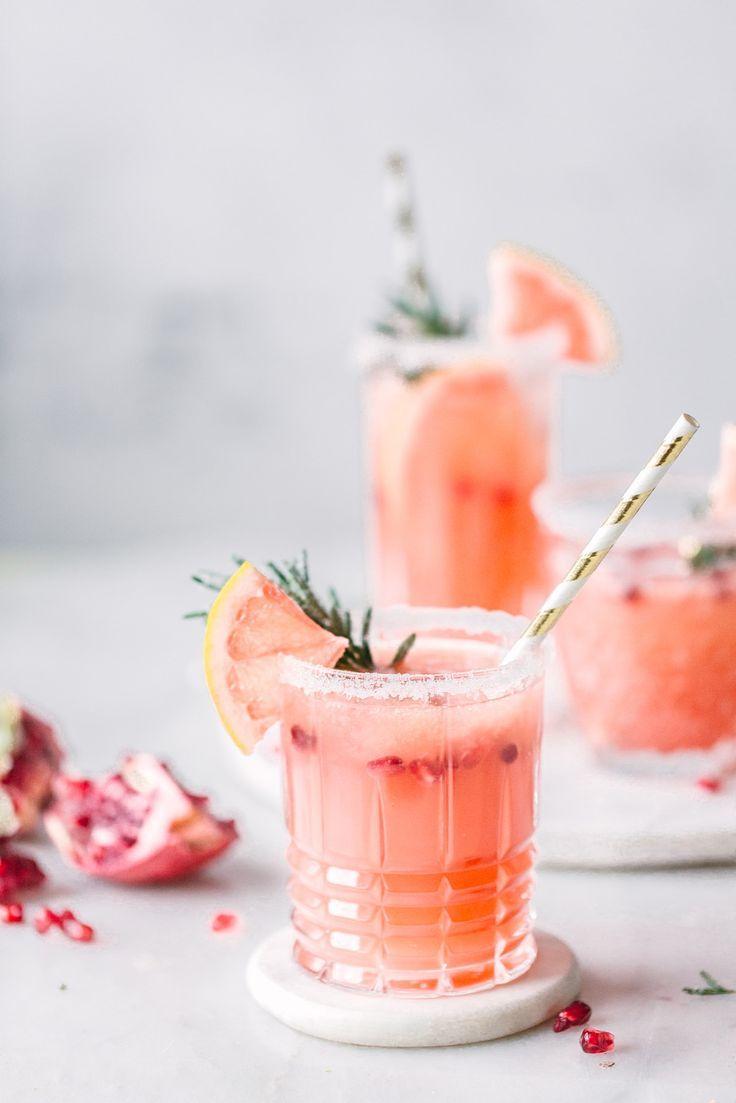 Grapefruit Granatapfel Mocktail – Alkoholfreier Cocktail ohne Zucker. #colddrinks
