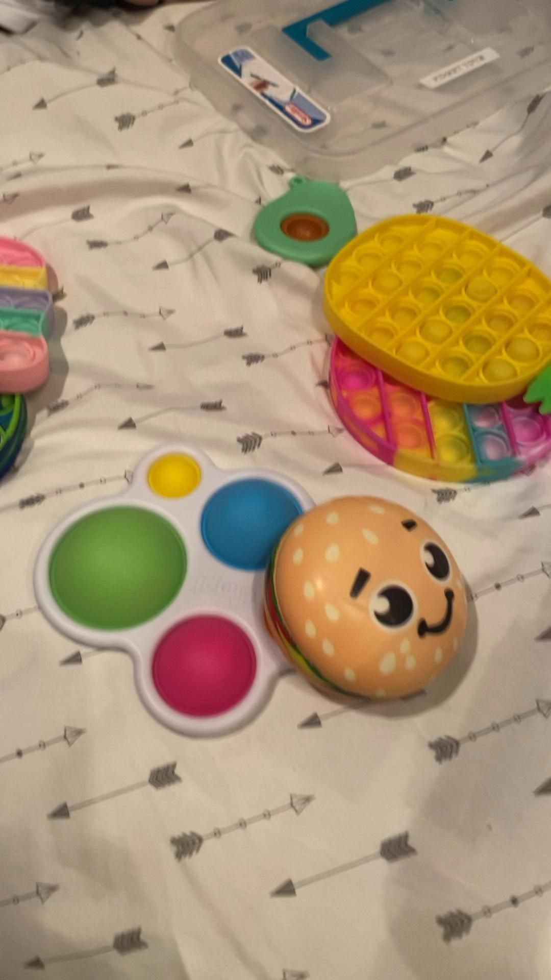 Packing fidgets for my camping trip!!!