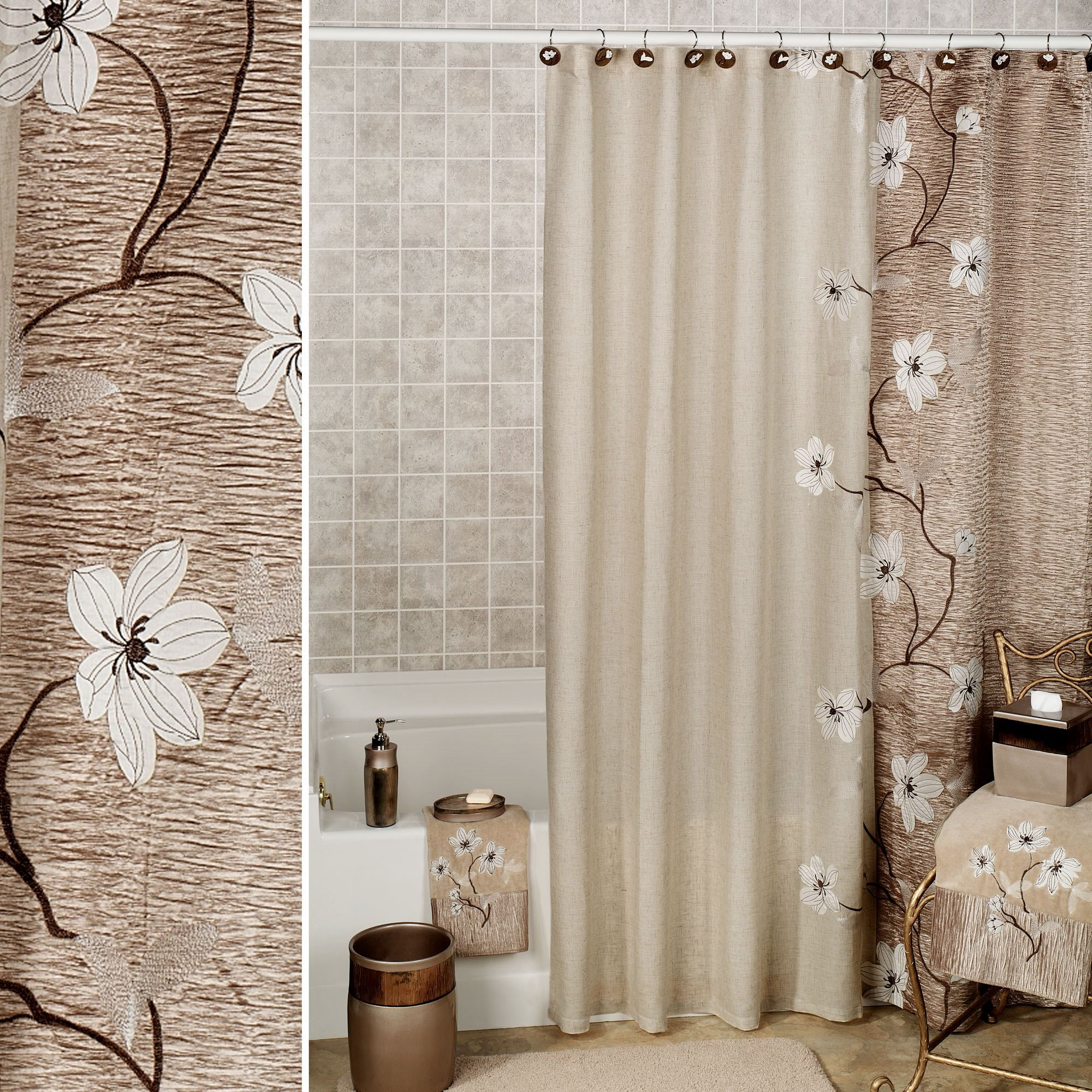 Magnolia Floral Shower Curtain By Croscill With Images Target