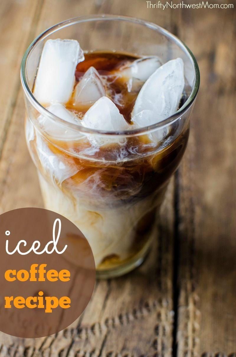 How to make iced coffee homemade syrups recipe