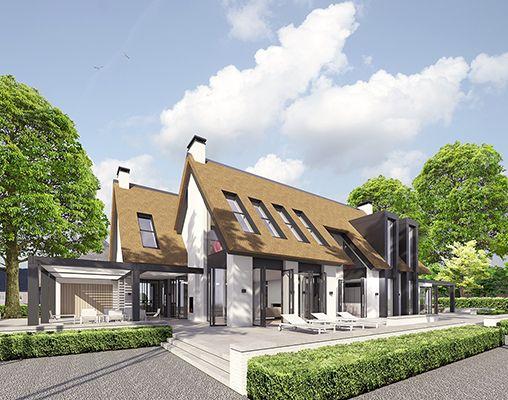 Modern landelijk villa woning huis architect zelfbouw for Landelijk bouwen architect