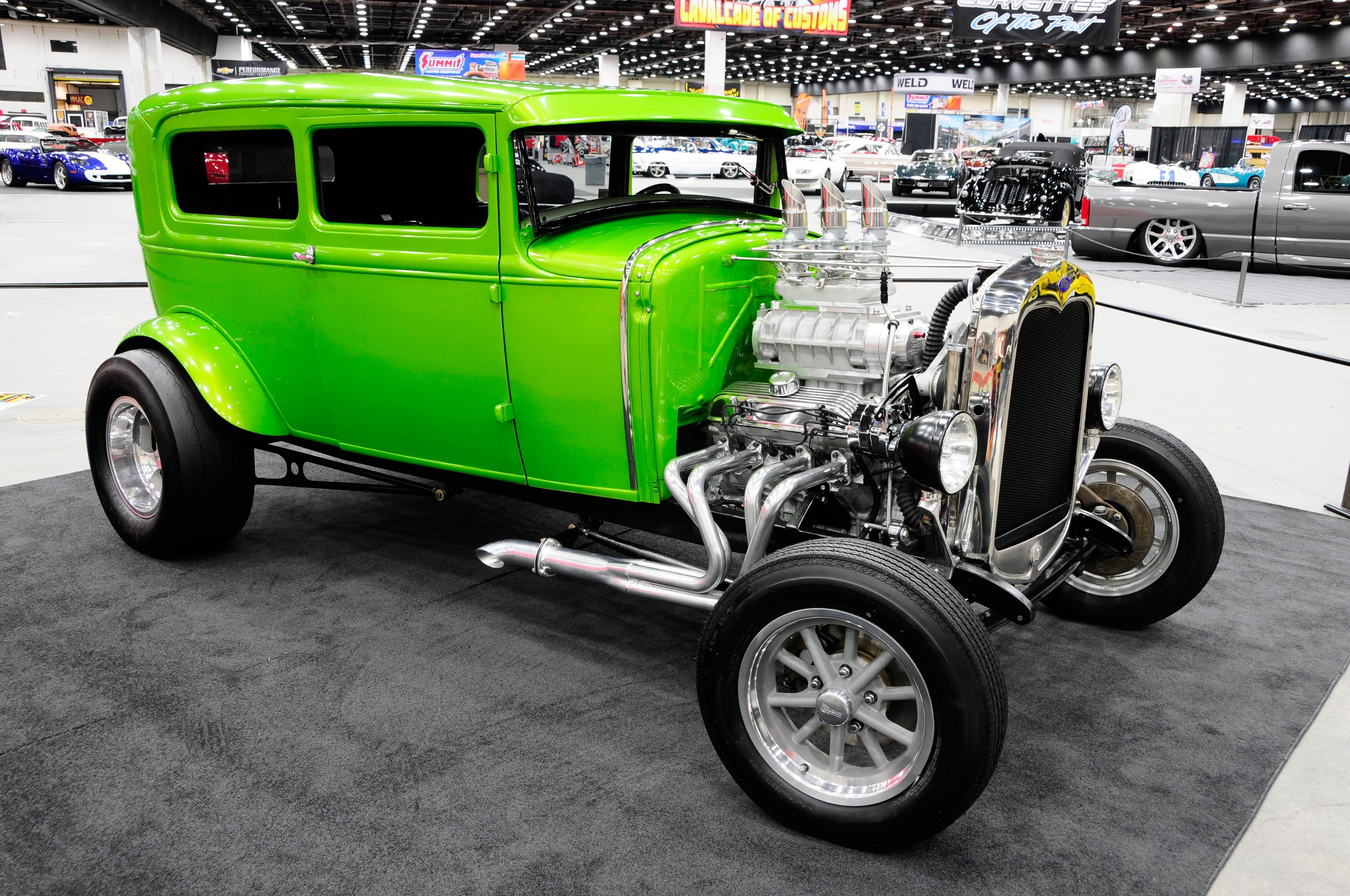Old School Flames Hot Rod 1930 Ford Model A Sedan Two Door Street Rod Hot Old School Usa 02 Wallpaper 4288x Hot Rods Cars Street Rods Hot Rods Cars Muscle