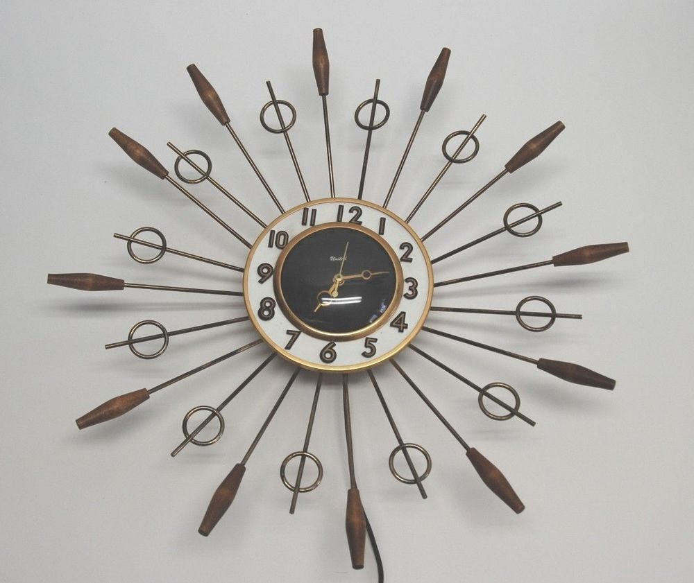 Vintage eames united starburst cattail wall clock 79 working vintage eames united starburst cattail wall clock 79 working amipublicfo Images