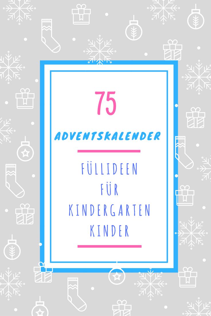 75 Ideen ☆ Kleinkind Adventskalender Füllideen Kinder ab 3