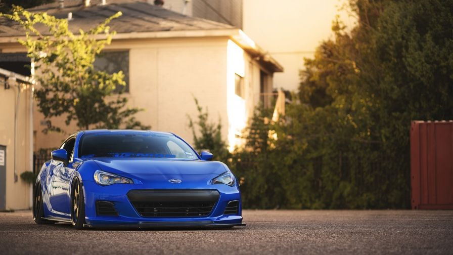 Blue Subaru Brz Sports Car Wallpaper Latest Model