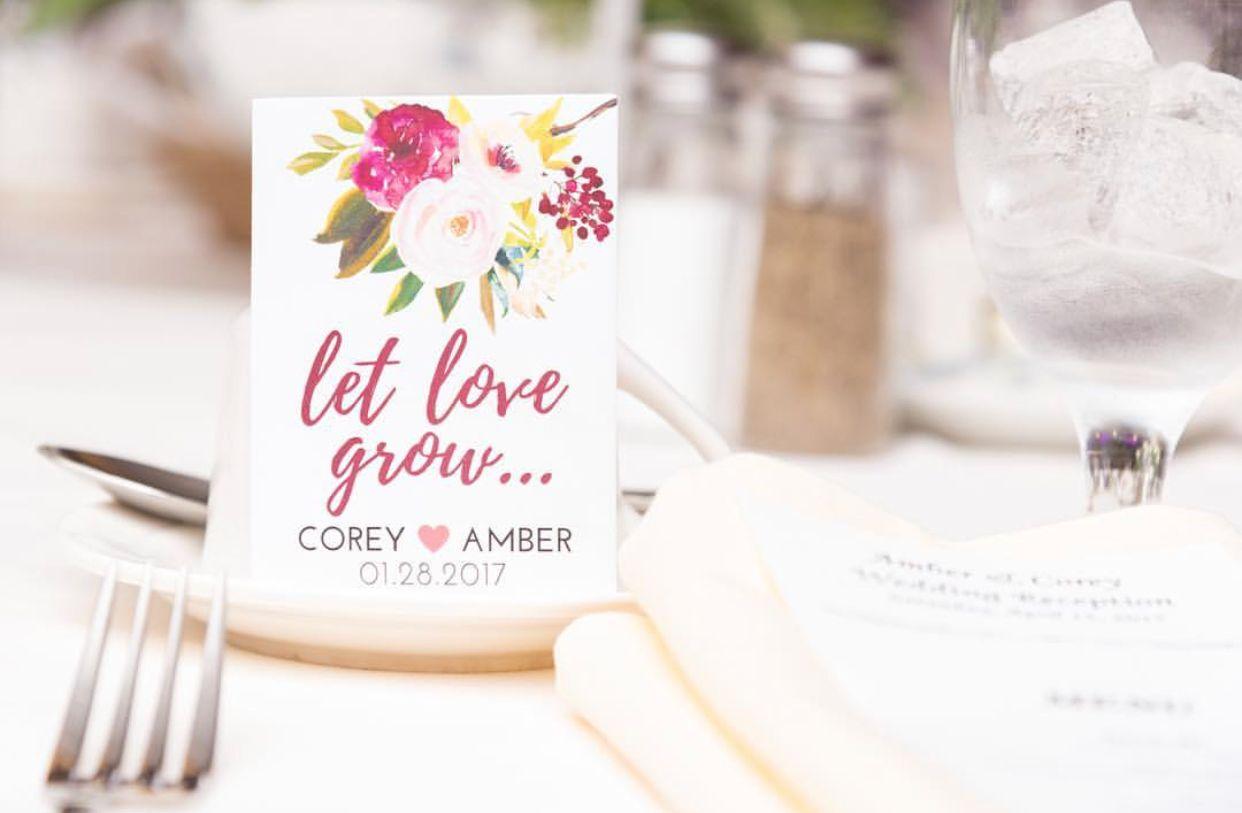 Let Love Grow Custom Seed Wedding