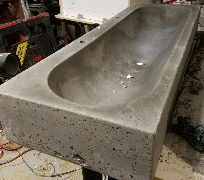 Concrete Countertop Rubber Sink Mold Sdp 5 Trough 48 Concrete Sink Trough Sink Concrete Countertops