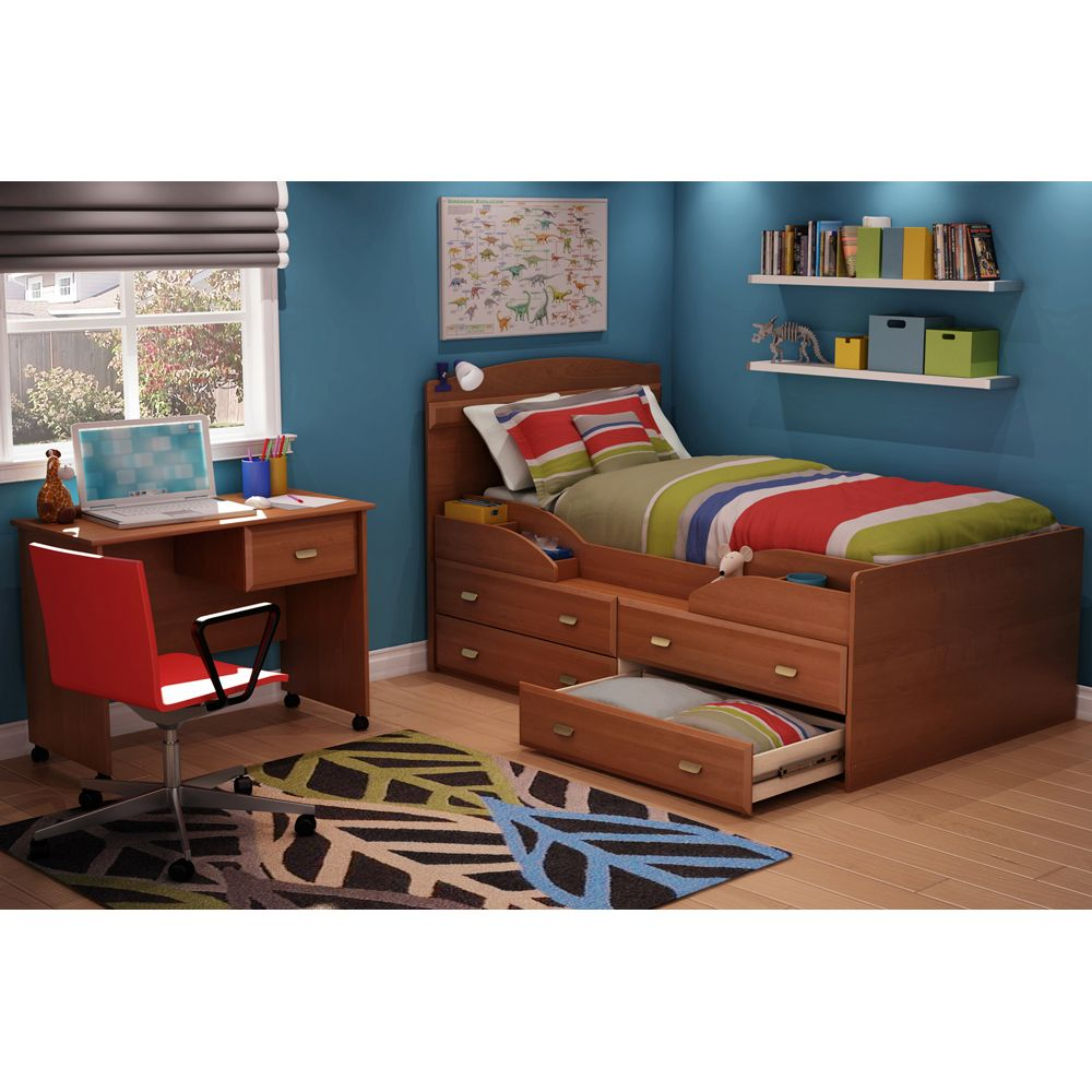 imagine kids captain s bed 3576 by south shore single twin wooden
