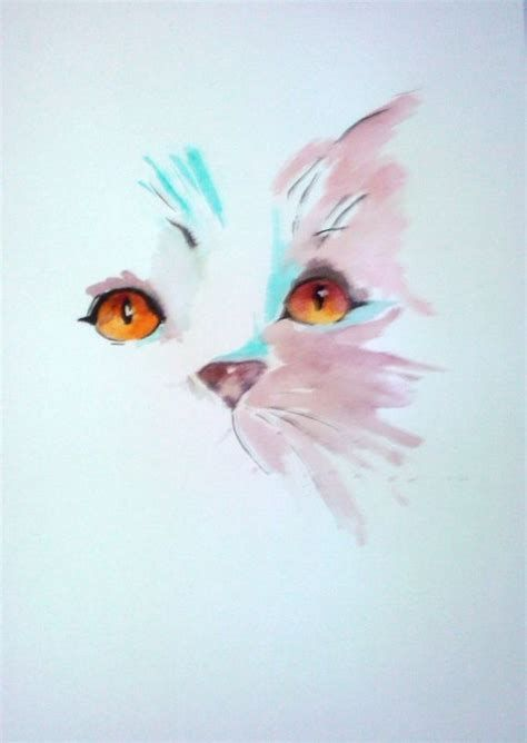 Idees Aquarelle Ecosia Dessin Chat Aquarelle Chat Dessin