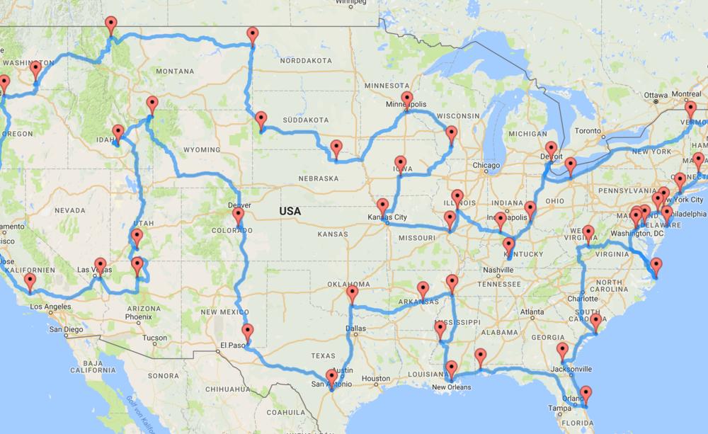 Der perfekte USA Roadtrip ein Wissenschaftler hat schlaueste