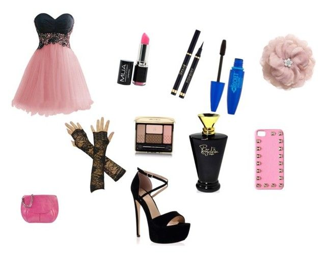"""""""Prom look"""" by sexycat123 ❤ liked on Polyvore featuring Guerlain, H&M, Orciani and Valentino"""