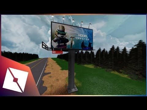 Roblox Studio Speedbuild Street Advertise Board Youtube