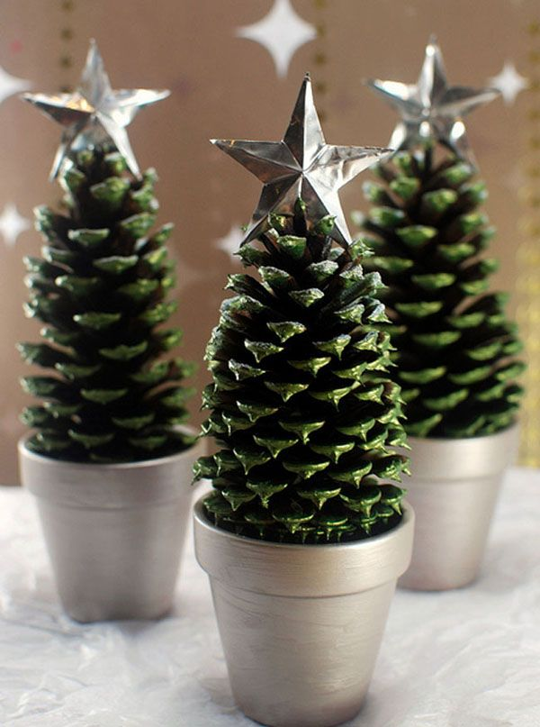 Superior Pine Cone Christmas Crafts Ideas Part - 12: Pine Cone Christmas Trees Scissors And Spoons