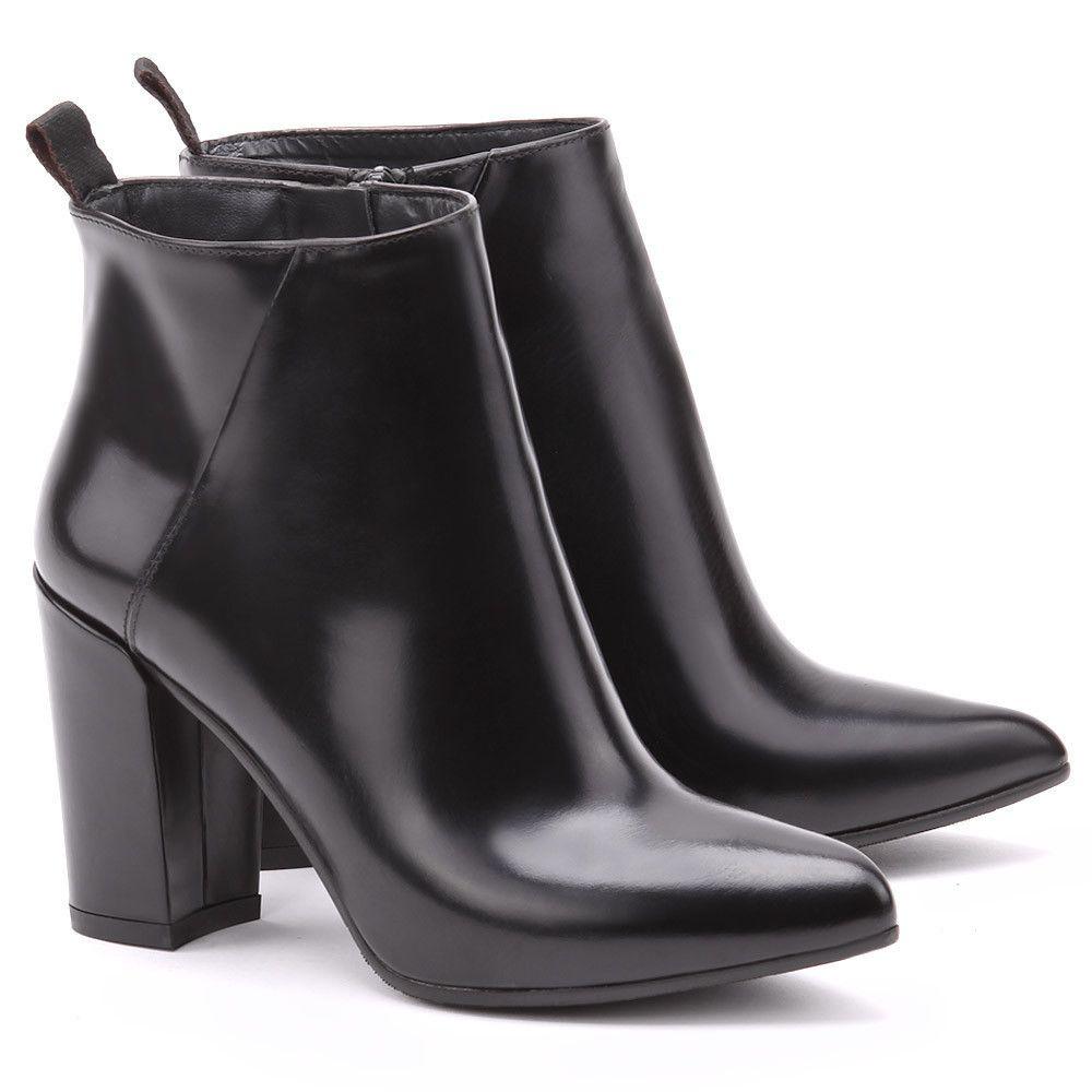 Gino Rossi Import Czarne Skorzane Botki Damskie Db719l Db719l Botki Buty Kobiety Mivo Boots Shoes Ankle Boot