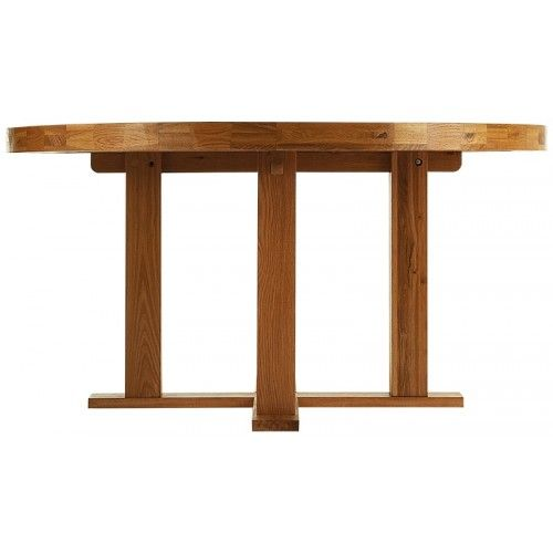 Kensington Rustic Oak 1 5m Round Dining Table