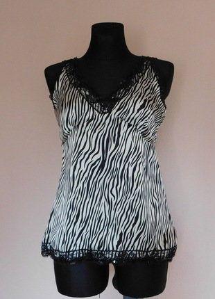 Kup mój przedmiot na #vintedpl http://www.vinted.pl/damska-odziez/bluzki-bez-rekawow/17546051-e-vie-bluzka-satynowa-zebra-40