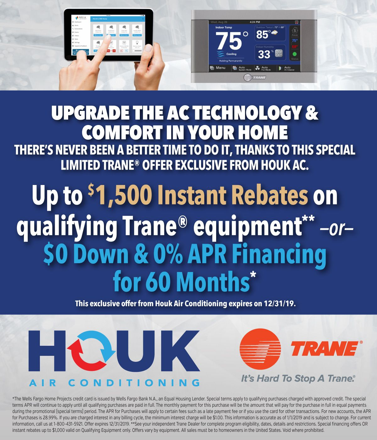 Get Instant Rebates Or 0 Financing Conditions Apply Houk Ac Trane Conditioner Finance