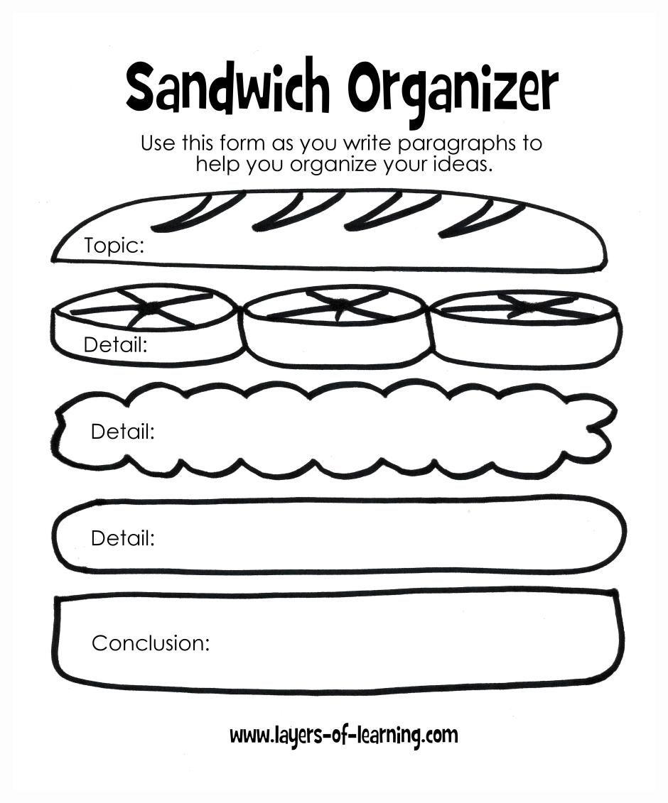 Sandwich report organizer | Educativos | Pinterest | Teaching kids ...