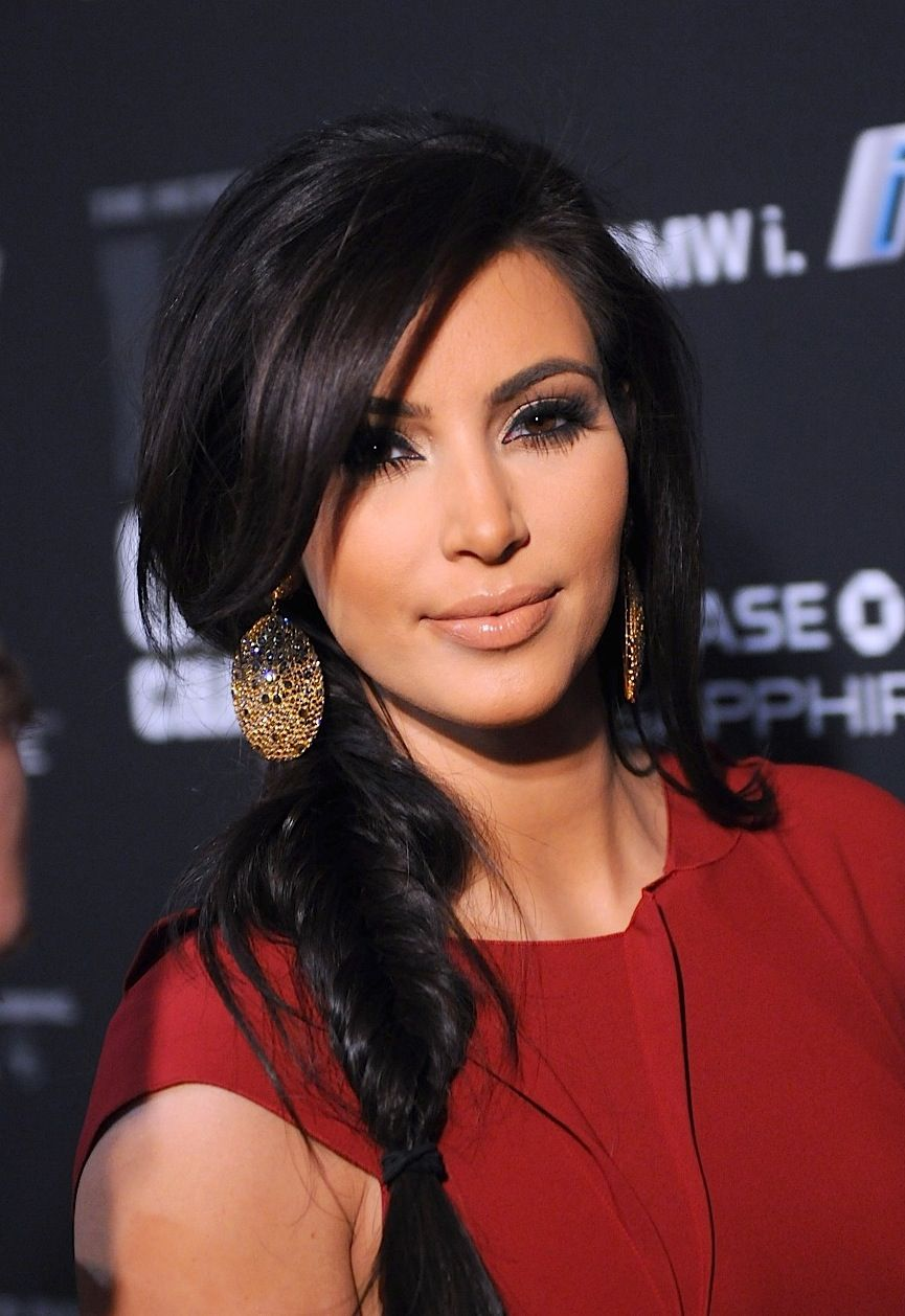 Kim kardashian fish tail braid