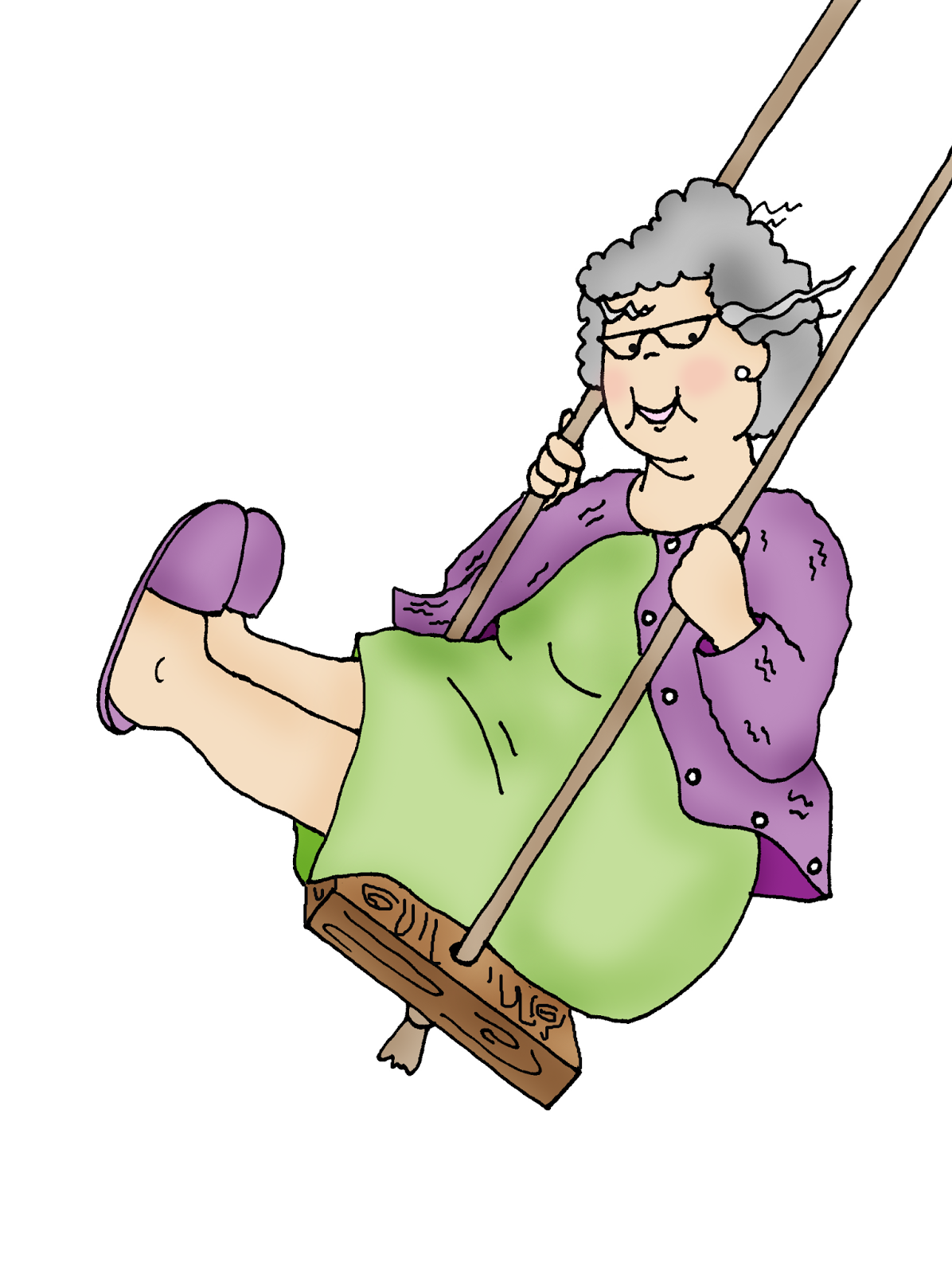 Swingin Granny ... this is a little bit of a do over. I had the perspective wrong on the swing and this is better.