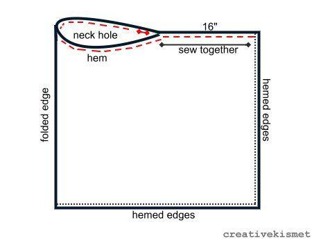 Katie Poncho Instruct2 Craft Ideas Pinterest Ponchos Diagram