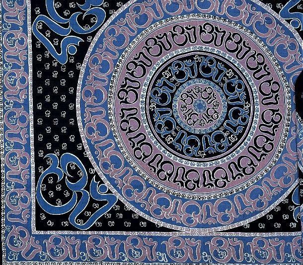 Handmade Cotton Mandala Om Print Tapestry Throw Tablecloth Spread Wall Hang Full